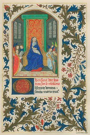 Facsimile of The Virgin Enthroned from HM 1173