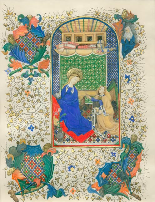 Facsimile of The Annunciation