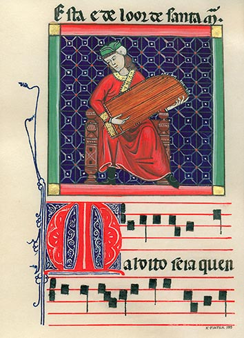 Facsimile of folio 125r of Canticles of Alphonso the Wise